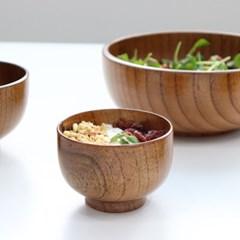 아카시아 나무 옻칠 볼 우드 요거트 샐러드 보울 4사이즈
