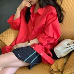 나폴리 코튼박시셔츠 (3color)