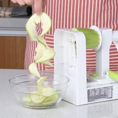 4중날 야채 수동식 멀티회전채칼 슬라이서 제면기