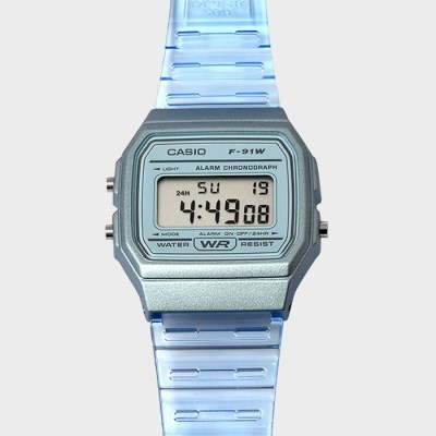 CASIO 카시오 F-91WS-2 공용시계 우레탄밴드 손목시계