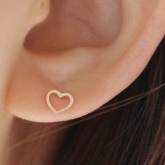 14K 하트 귀걸이