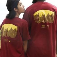 한국의 산 티셔츠 시리즈 금강산 버건디