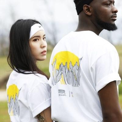 한국의 산 티셔츠 시리즈 금강산 화이트
