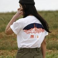 한국의 산 티셔츠 시리즈 남산 화이트