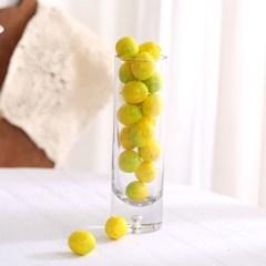 미니 설 익은 레몬 모형 20P (2cm)