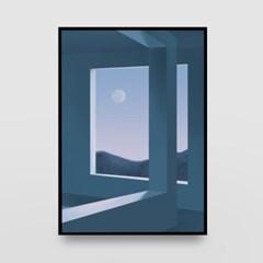 일러스트 포스터 / 인테리어 액자_window 02
