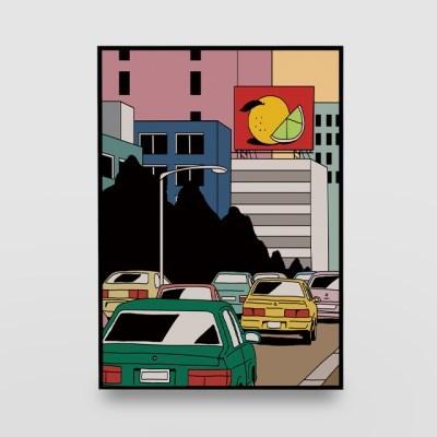 일러스트 포스터 / 인테리어 액자_old city 01