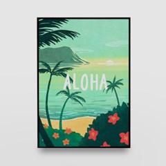 일러스트 포스터 / 인테리어 액자_aloha 01