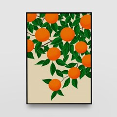 일러스트 포스터 / 인테리어 액자_orange tree 01