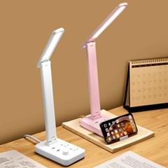 LED스탠드 책상스탠드 USB충전구 멀티콘센트