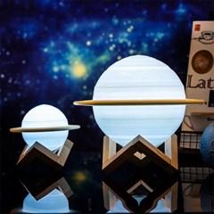 3D입체 16색 LED 토성 무드등 수유등 달무드등 15cm