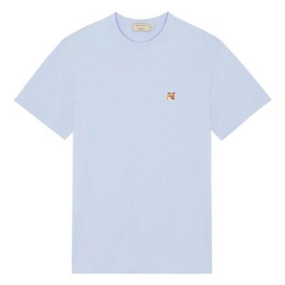 메종키츠네 폭스 헤드 패치 클래식 티셔츠 라이트블루