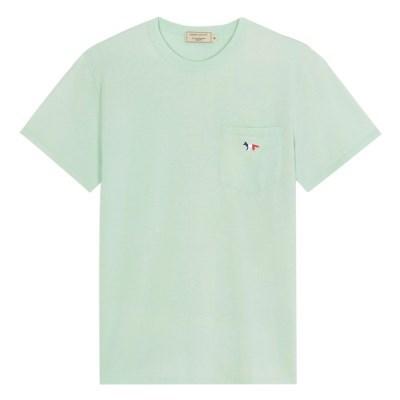 메종키츠네 트리컬러 폭스 패치 포켓 티셔츠 민트
