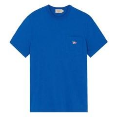 메종키츠네 트리컬러 폭스 패치 포켓 티셔츠 다크블루