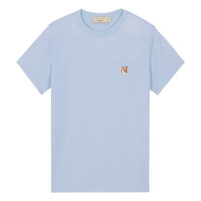 메종키츠네 W 폭스 헤드 패치 클래식 티셔츠 라이트블루