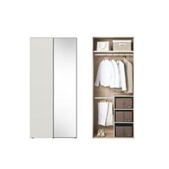 한샘 바이엘 소프트 거울옷장 크림화이트 100cm(높이216cm) 수납형