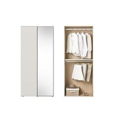 한샘 바이엘 소프트 거울옷장 크림화이트 100cm(높이216cm) 행거형 A