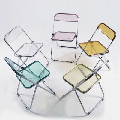 투명 접이식 의자 인테리어의자 투명의자 클리어 체어