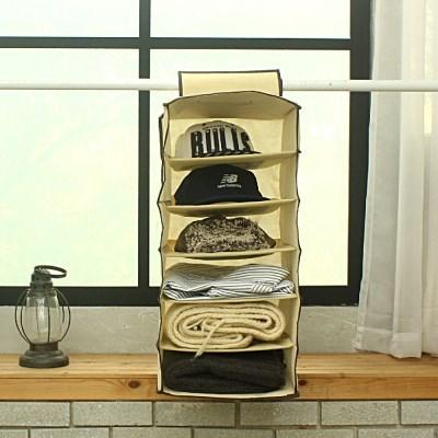 부직포 선반 정리함 일반형 6칸 옷장정리 속옷정리 모자수납 신발정