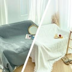 [집다다]시원한 면 모달 와플패턴 의자 쇼파 소파 천갈이 덮개