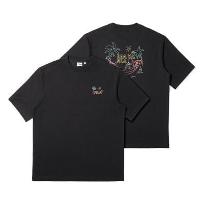 휠라 해먹상어 반팔 티셔츠 블랙_(202231923)
