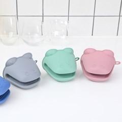 악어 디자인의 귀여운 실리콘 냄비 장갑