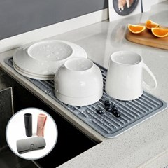 주방싱크대 설거지 그릇 말아서 보관하는 드라잉매트