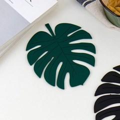 미니멀 그린 나뭇잎 냄비받침 1개