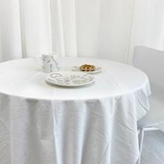[집다다]감성 순면 빈티지 광목 식탁보 원형 사각 테이블보