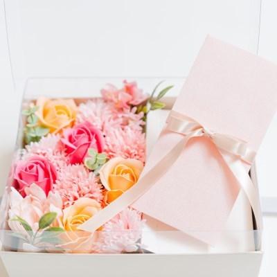 어버이날 선물, 카네이션 비누꽃 플라워 용돈박스&용돈봉투