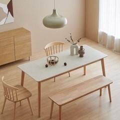 한샘 도노 세라믹 스칸디 6인 식탁세트(의자2,벤치1 포함)