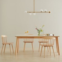 한샘 도노 세라믹 스칸디 6인 식탁세트(의자4 포함)