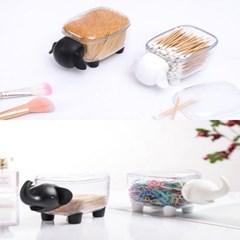 파베르 아기 코끼리 양 이쑤시개 면봉 케이스