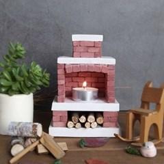 미니 벽난로 캔들홀더 만들기 DIY 벽돌 소품 장식
