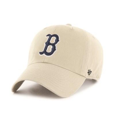 47브랜드 MLB모자 보스톤 베이지 네이비빅로고