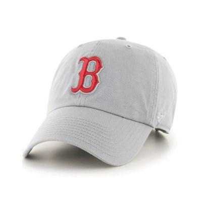 47브랜드 MLB모자 보스톤 그레이 레드빅로고