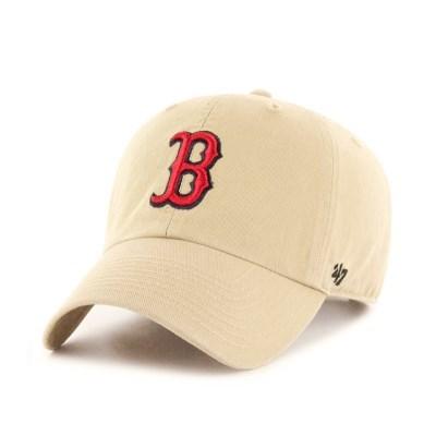 47브랜드 MLB모자 보스톤 내추럴 레드빅로고