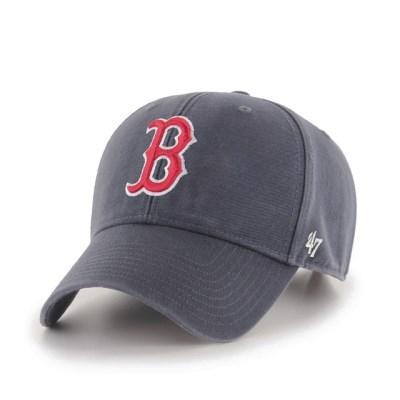 47브랜드 MLB모자 보스톤 네이비빈티지 레드빅로고 스트럭처