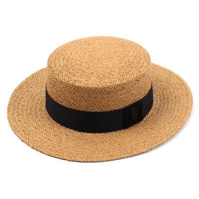 Brown Flat Panama Hat 파나마햇