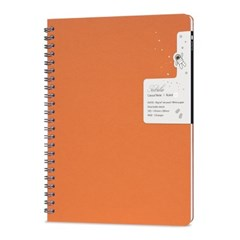 네뷸라 캐쥬얼 노트-오렌지(줄지) Orange 만년필노트