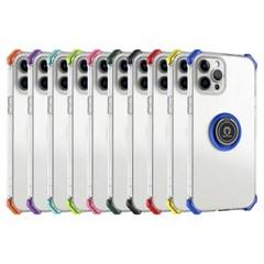 아이폰8 마그네틱 클리어 범퍼 커버 젤리 케이스 P593_(3923341)