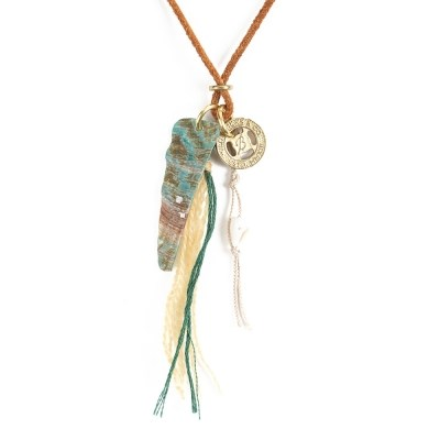 EN SEASHELL LEATHER NECKLACE (brown)