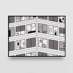 일러스트 포스터 / 인테리어 액자_the office 01