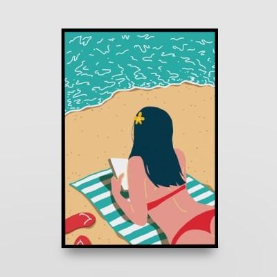 일러스트 포스터 / 인테리어 액자_beach 01