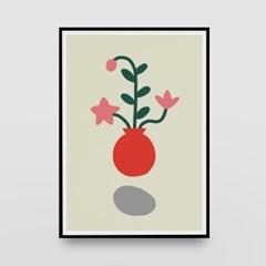 일러스트 포스터 / 인테리어 액자_flowers 02