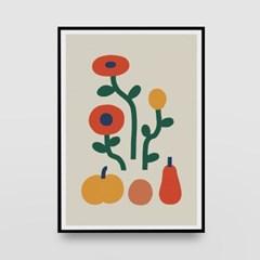 일러스트 포스터 / 인테리어 액자_flowers 01