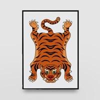 일러스트 포스터 / 인테리어 액자_Tibet tiger 01