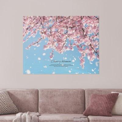 패브릭포스터 창문가리개 월행잉 90x73 벚꽃무드