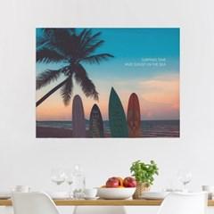 패브릭포스터 원룸인테리어 커튼 90x73 서핑인썬셋