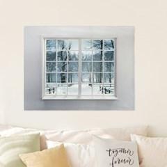 패브릭포스터 바란스커튼 그림 90x73 겨울이야기